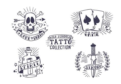 free old tattoo collection download free vector