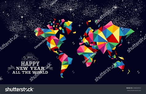 new year 2015 poster design happy new year 2015 greeting card stock vector 238926553