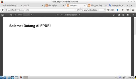 membuat watermark pdf dengan php membuat header footer penomoran halaman dan gambar