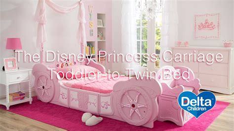 disney princess twin carriage bed disney princess carriage toddler to twin bed youtube