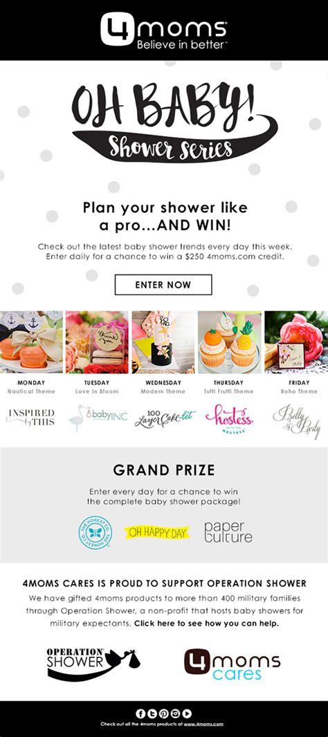 4moms Giveaway - modern baby shower ideas with 4moms giveaway baby showers 100 layer cakelet