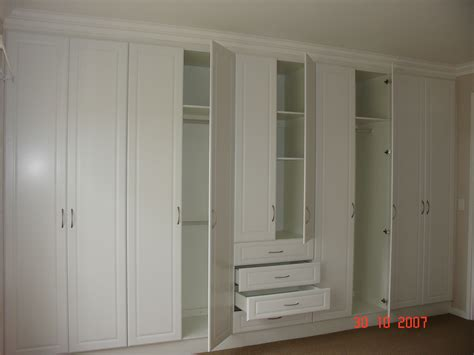 bedroom cupboards open white melamine bic nico s kitchens