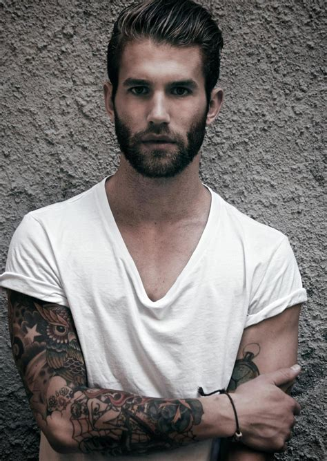 tattooed male models andre hamann sparkleonthesidewalk