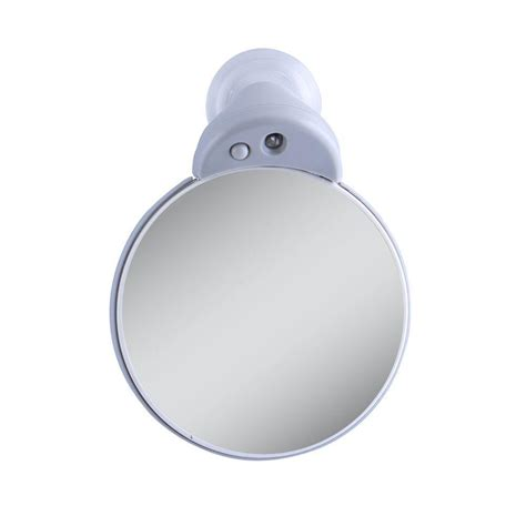 Magnification L 10x by Zadro 10x 5x Lighted Magnification Spot Mirror In Gray