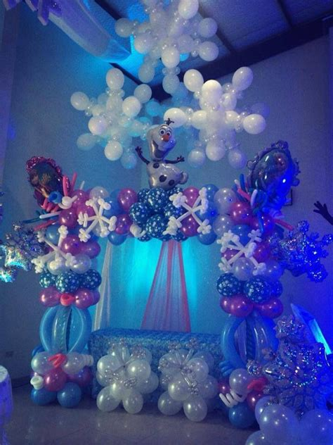 frozen decorations ideas frozen balloon decorations decoracion con globos y m 225 s