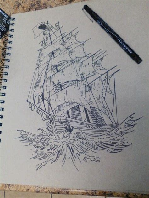 boat drawing tattoo ship boat drawing tattoo drawings tattoos pride