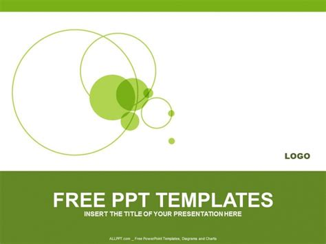 template ppt free green green circle powerpoint templates design download free