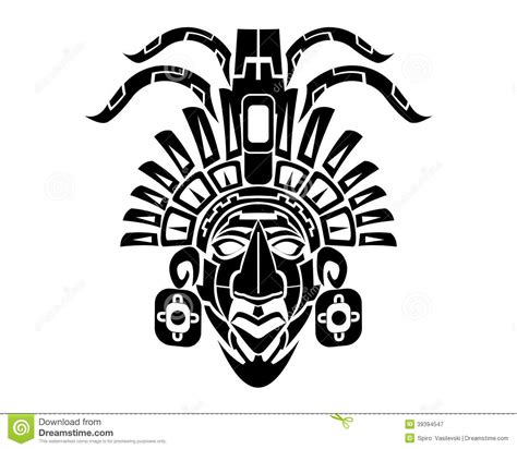 mayan mack tribal tattoo vector illustratie afbeelding