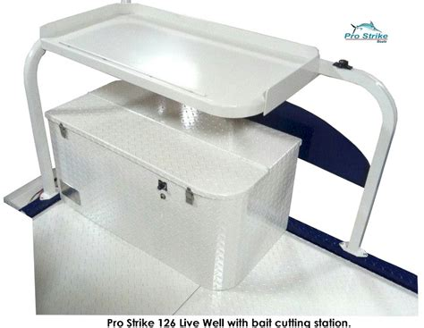 mini pontoon fishing boat livewell w bait cut station - Boat Livewell Components
