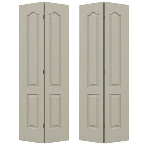 Jeld Wen Closet Doors Jeld Wen 72 In X 80 In Camden Desert Sand Painted Textured Molded Composite Mdf Closet Bi Fold