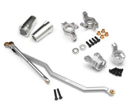 Xtraspeed Link Set Silver For Axial Wraith axial wraith steering link combo set front knuckle c hub steering link c hub carrier steering