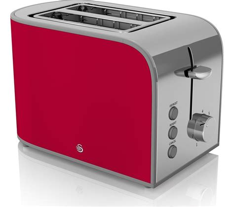 red small kitchen appliances buy swan retro st17020rn 2 slice toaster red free