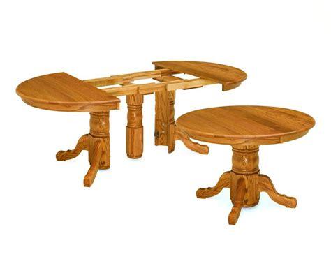 dining room table pedestal amish split pedestal dining table