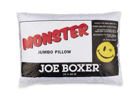 Joe Boxer Pillow joe boxer jumbo overfilled std qn pillow