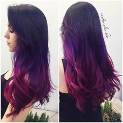 colorful ombre hair purple and black hairstyles purple hair 30 fantastic
