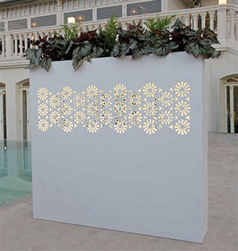 Wall Flower Planters by Outdoor Wall Pots And Planters Design By Bysteel Home
