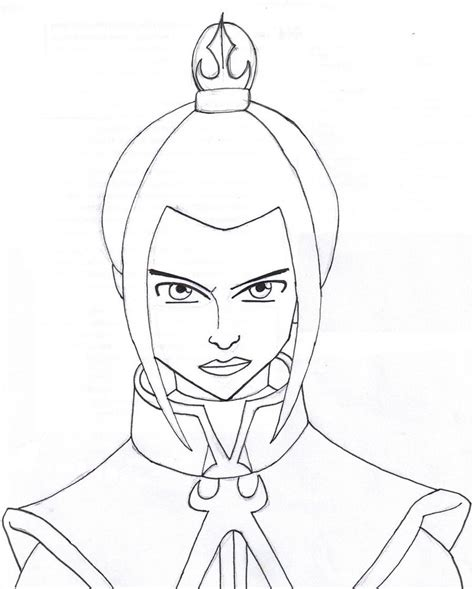 Azula Lineart By Svalaw On Deviantart Avatar Azula Coloring Pages