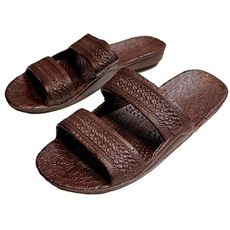 jesus slippers brown indigo rubber slide on sandal slippers
