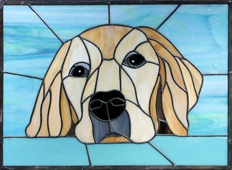 golden retriever stained glass pattern golden retriever glass dogs glass mosaics and