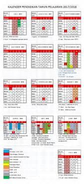 Kalender Islam Tahun 2018 Kalender Pendidikan Tahun Pelajaran 2017 2018