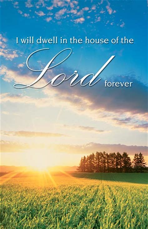 dwell in the house of the lord i will dwell in the house of the lord forever funeral bulletin regular size