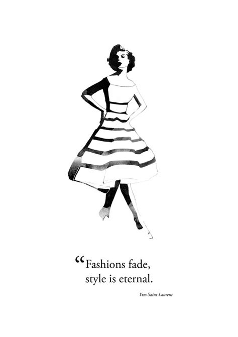 Fashion Quotes Newsletter by Fashion Illustration Quote Yves Laurent Georgie