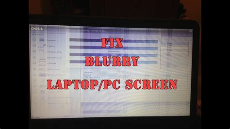 my color screen how to fix blur or colour pc laptop screen