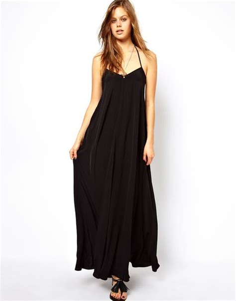 swing maxi dress asos swing cami maxi dress in black lyst