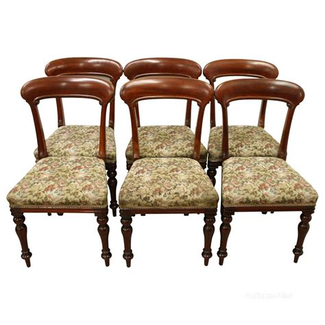 Dining Chair Sets Of 6 Set Of 6 Scottish Dining Chairs Antiques Atlas