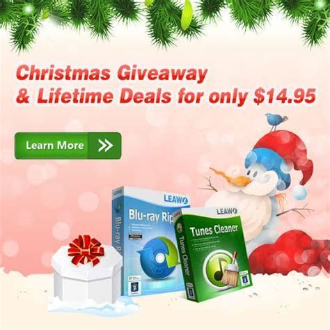 Itunes Christmas Giveaway - leawo tunes cleaner and blu ray ripper giveaways enhance your itunes and blu ray