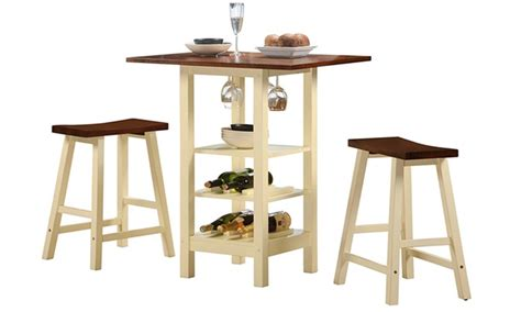 Kirkland Bistro Table Set Kirkland Bistro Table Set With Wine Storage 3 Groupon