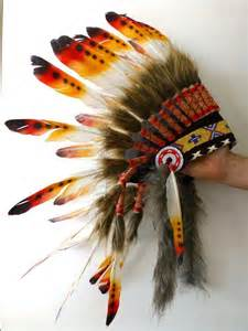 for kid children three colors chief indian feather