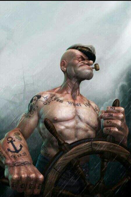cartoon tattoo artist vancouver popeye is da man popeye muscle fitness health