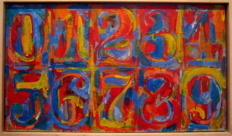jasper johns numbers in color quote for today jasper johns synkroniciti