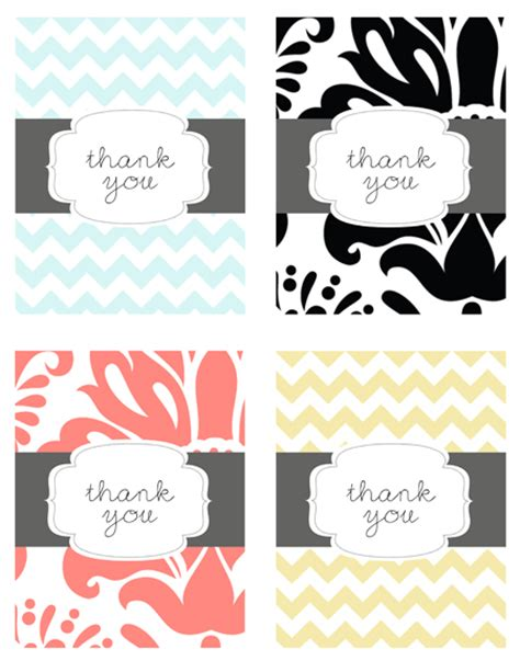 free card printables musings of an average free printable thank you cards