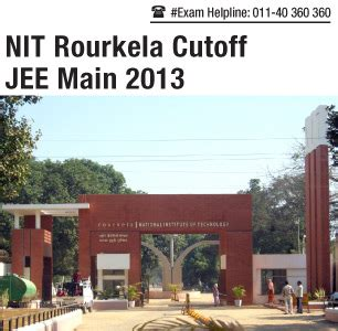 Nit Rourkela Mba Cut by Jee 2013 Cutoff For Nit Rourkela