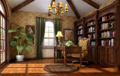 american study room interior design 3d 3d house