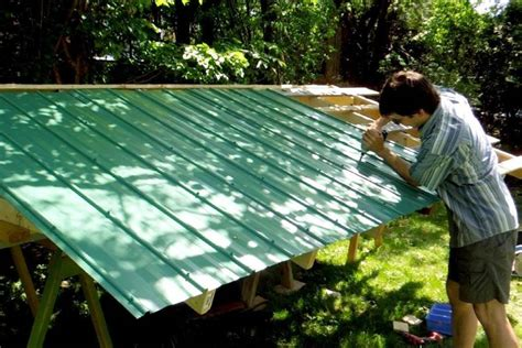 Putting A Roof On A Shed by Building A Shed Metal Roofing