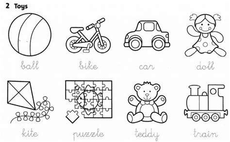 toys worksheets for kindergarten download them and try