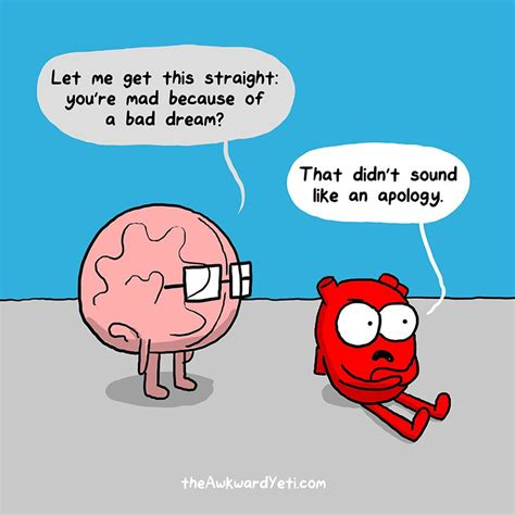 and brain an awkward yeti collection comics show the constant struggle between the