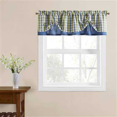 welspun curtains buy hydrangea blue scallop valance from bed bath beyond