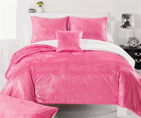 sparkle bedding pink sparkle faux mink comforter set