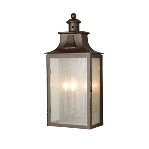 Outdoor Ls Lanterns by Elstead Balmoral Wrought Iron 3 Light Bronze Wall Lantern