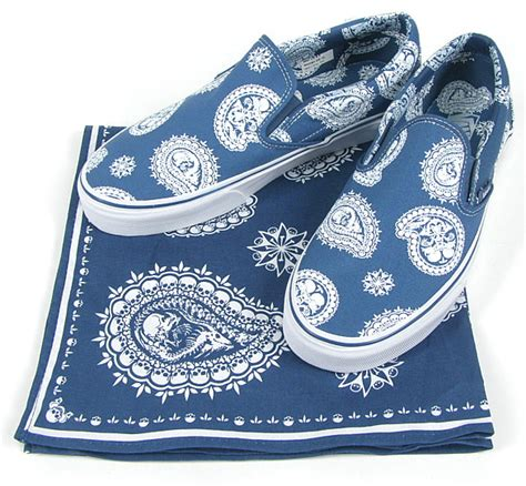 Vans Skulls And Paisley by Vans Quot Paisley Bandanna Quot Classic Slip On Hypebeast