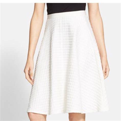 a line skirt white dress ala