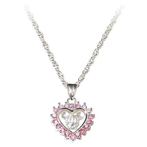 your wdw store disney necklace pink mickey mouse