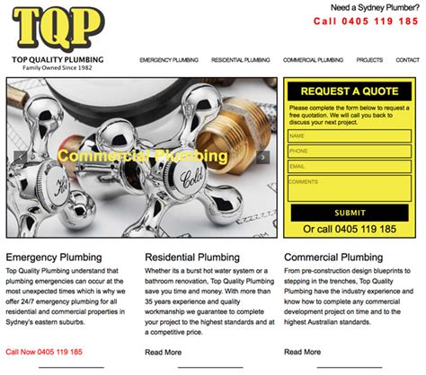 top quality plumbing sydney website design bondi web