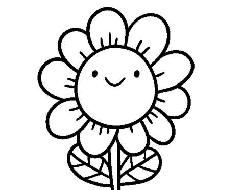 fiori da disegnare disegno di un fiore sorridente da colorare acolore