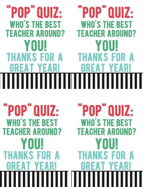 Pencils Out Its A Popcorn Quiz by Popcorn Gift The Crafting