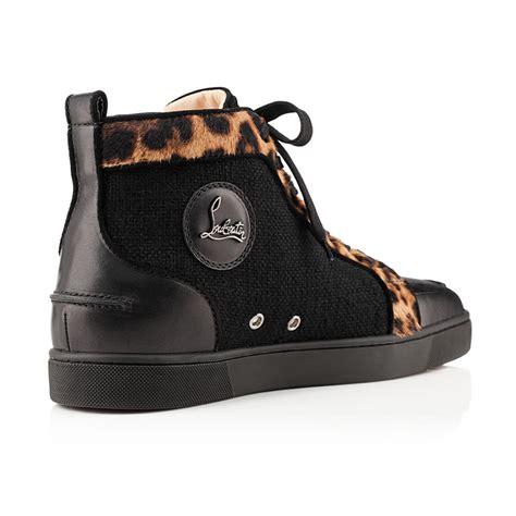 christian sneakers christian louboutin rantus orlato leopard pony sneakers